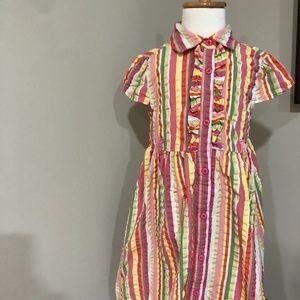 *GYMBOREE* Girl's Striped Short Sleeve Dress